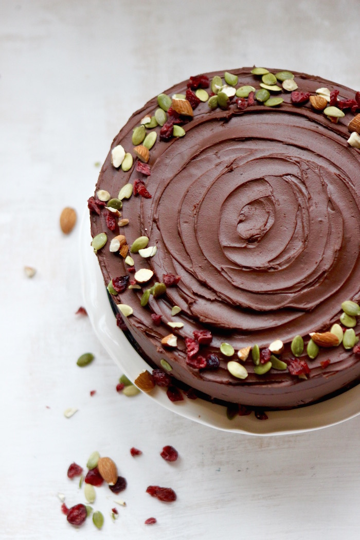 ... mocha fudge frosting, the coffee-chocolate combo complements the